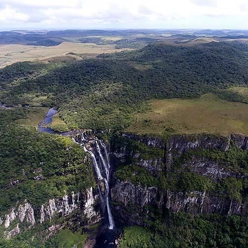 Vista aérea do Parque Nacional de Aparados da Serra
