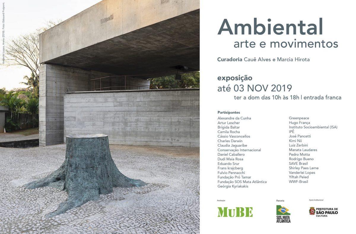 Convite para exposição sobre o meio ambiente no MuBe