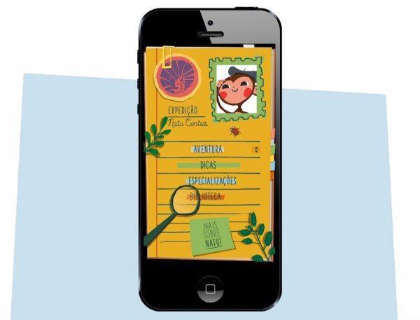 Tela do aplicativo Natu Contos